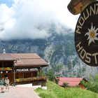 Mountain Hostel Exterior, Gimmelwald, Berner Oberland, Switzerland