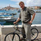Rick Steves on Bike in Rovinj, Croatia