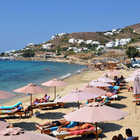 Sunbathers on Beach, Mykonos, Greece