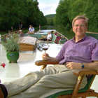 Rick Steves on River Barge, Burgundy, France
