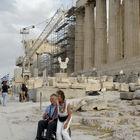 Wheelchairs on Acropolis, Athens, Greece