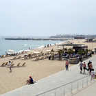 Beach and Promenade, Barcelona, Spain
