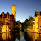 Bruges Night Canal