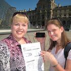 Rick Steves Audio Europe Travelers Outside Louvre Museum, Paris