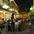 Cafe at Night, Psyrri District, Athens, Greece