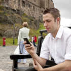 Smart Phone User, Edinburgh, Scotland