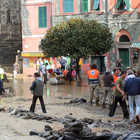 Relief Workers, 10/25/2011 Disaster, Vernazza, Cinque Terre, Italy