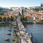 View of Charles Bridge, Prague, Czech Republic
