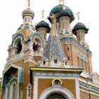 Spires of Russian Cathedral, Nice, Riviera, France
