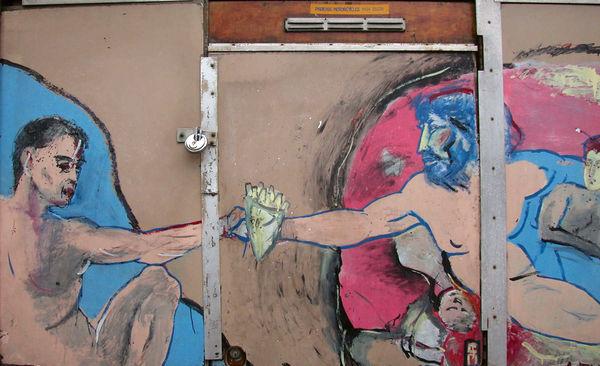 Creation with Fries Street Art, Amsterdam, Netherlands
