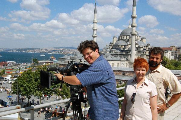 TV Crew in Istanbul, Turkey