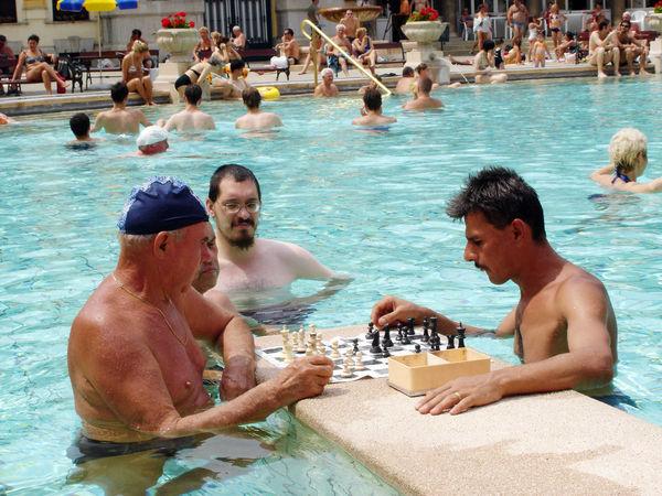 Chess Players, Szechenyi Baths, Budapest, Hungary