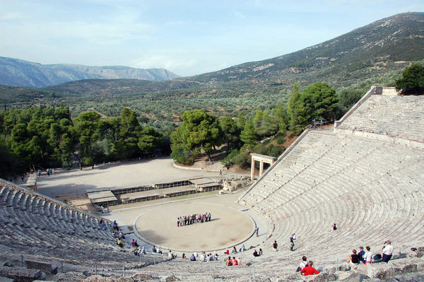 Theater, Epidavros, Peloponnese, Greece