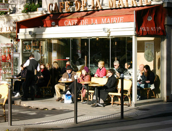 Cafe Outdoors in Winter, France