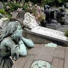 Gravestones in Monumental Cemetery, Milan, Italy