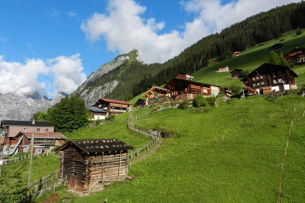 View of Gimmelwald, Berner Oberland, Switzerland