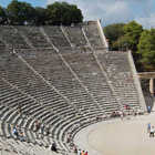 Amphitheater of Epidavros, Peloponnese, Greece